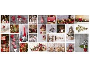 moderní vánoční ubrus, dezinfikovatelný, ideální pro covid-19