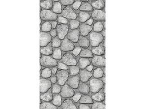 Aquamat - pěnová předložka PVC - do kuchyně, do koupelny - kameny - 431-1 šedá