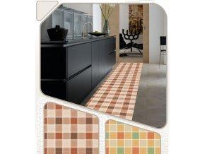Pěnová PVC předložka do koupelny, kuchyně, chatu, dílnu, dvičení - kostky - C-83