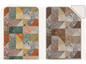 PVC pěnová předložka do koupelny, kuchyně, chodbu, chatu - mramorová mozaika 1029