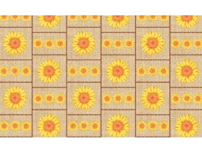 PVC pěnová předložka terramat do koupelny, kuchyně, chodby, haly - slunečnice 1030