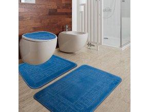 Koupelnová předložka Meander vzor modrá 100% polypropylen