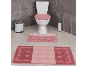 Předložka do koupelny - růžová - 1 kus - měkkná - moderní