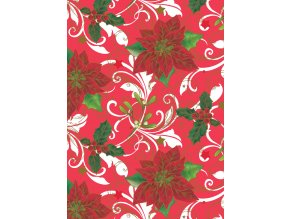 PVC ubrus vánoční 847 (květ vánoční růže) -- ks -- 140x160 cm