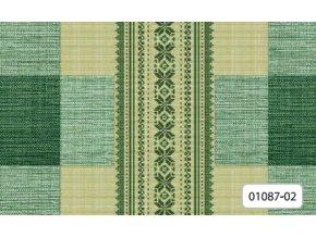 Omyvatelný ubrus, pvc ubrus, igelitový ubrus Florista 1087-02 kostka zelená, Sareha