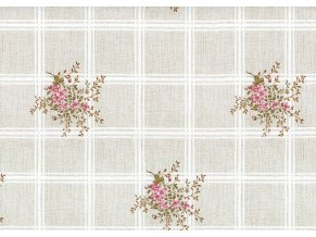 PVC ubrus Fantastik c47-1 kostka, květy - Sareha