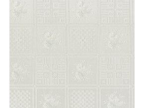 102-65 PVC ubrus Fantastik Classis (bílá mozaika) role