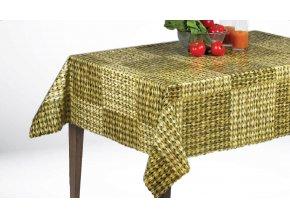 ubrus pvc s textilním podkladem, proutí, Sareha