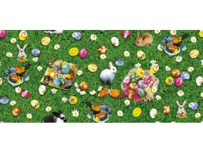 Velikonoční pvc ubrus 764-1 Sareha, textilní podklad, omyvatelný