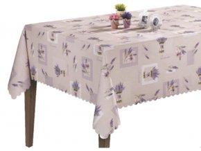 Levandulový pvc ubrus s textilním podkladem, Sareha, fialový