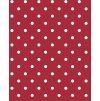 červený s bílým puntíkem pvc ubrus omyvatelný s textilním podkladem Sareha 1061-3