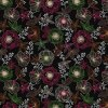 pvc ubrus s textilním podkladem květy