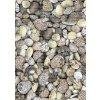 Aquamat - pěnová předložka - do kuchyně, koupelny - mix kamenů 29-2 - hnědá