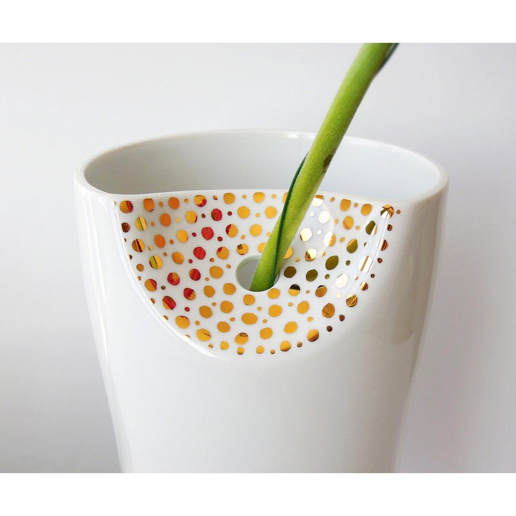 porcelánová váza detail