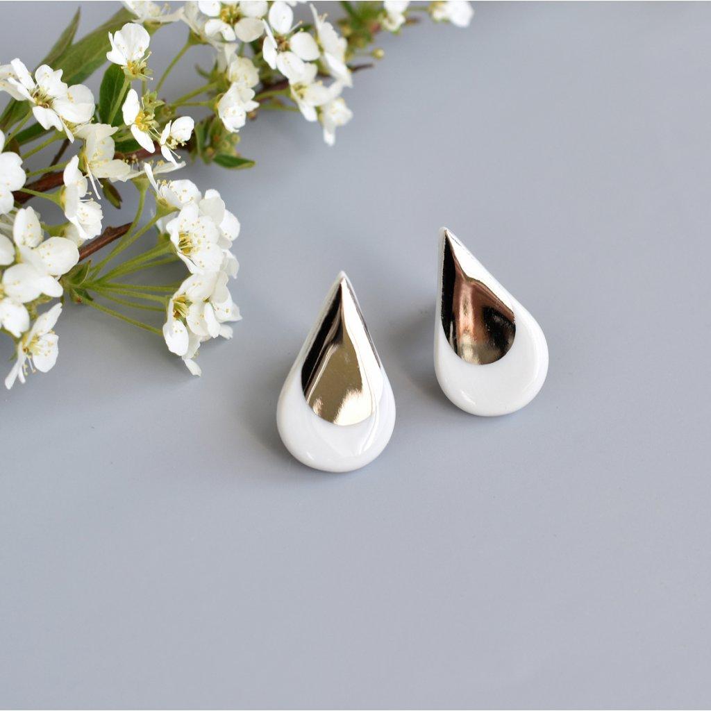 porcelánové náušnice kapky