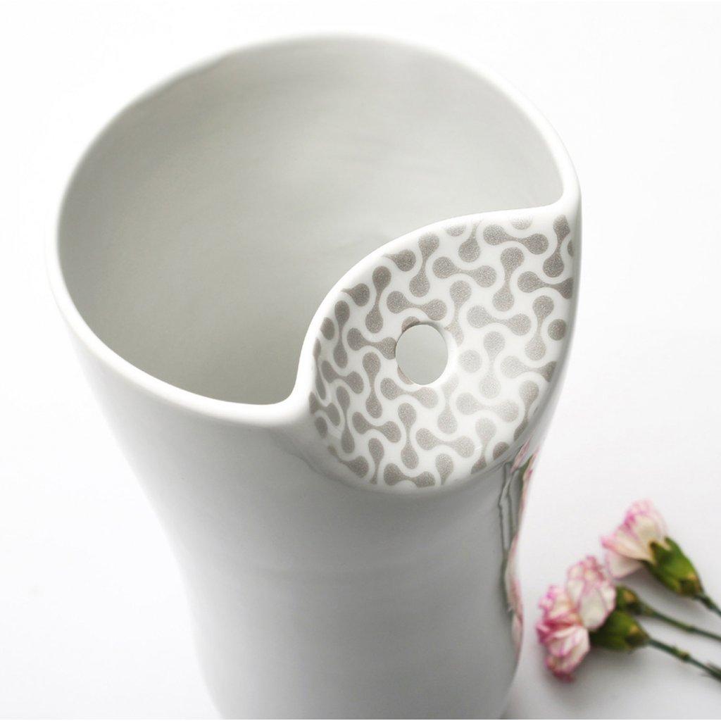 porcelánová váza autorský design porcelánu