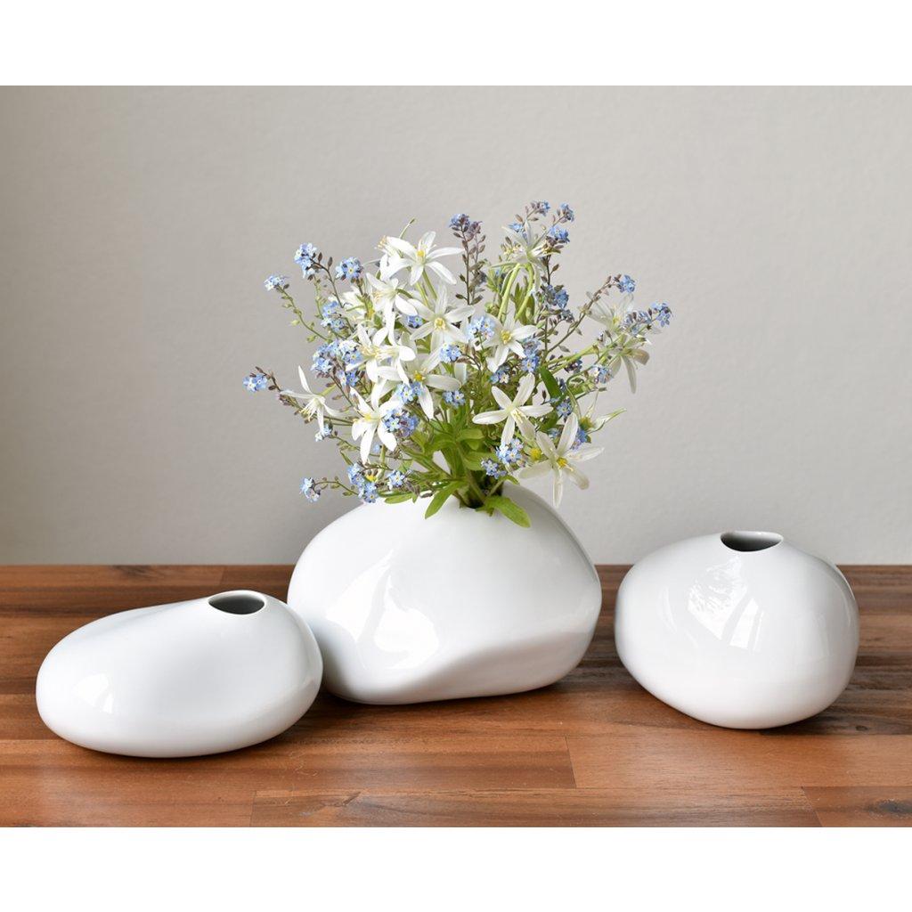 porcelánové vázičky oblázky