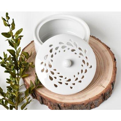 dekorativní porcelánová dóza