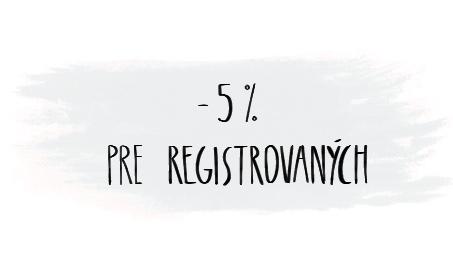-5% pre registrovaných