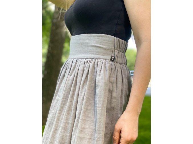 Mušelínová sukňa šedá (BIO)