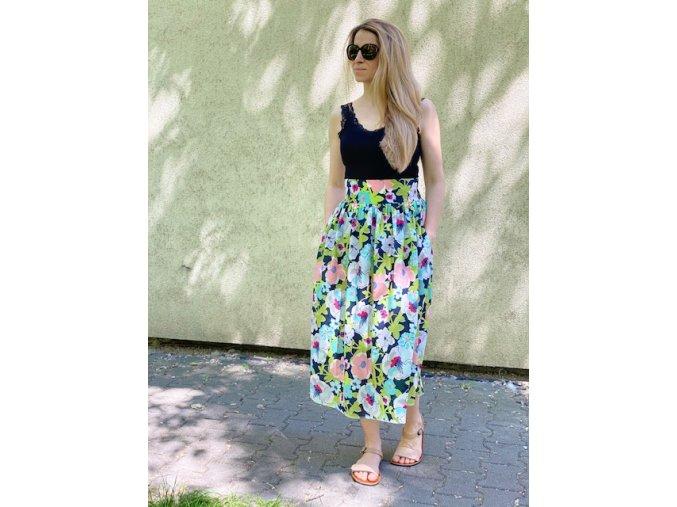 Bavlnená sukňa (tenká ) kvetinková