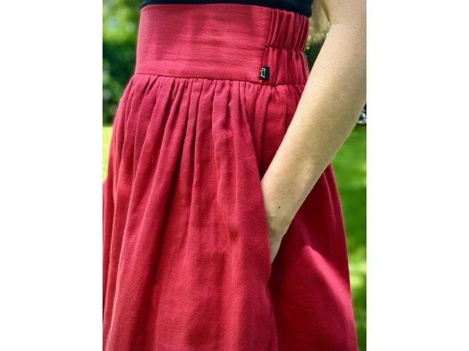 Mušelínová sukňa červená (BIO)