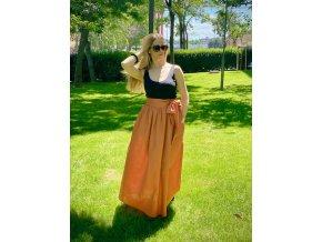 Ľanová sukňa 1 kus!! (S) výška 163 cm