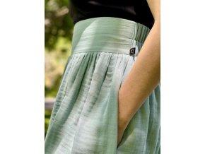 Mušelínová sukňa mentolová (BIO)