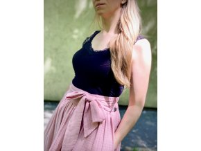Mušelínová sukňa bledo levanduľová (BIO)