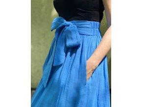 Mušelínová sukňa kráľovská modrá (BIO)