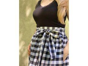 Bavlnená sukňa (tenká) károvaná