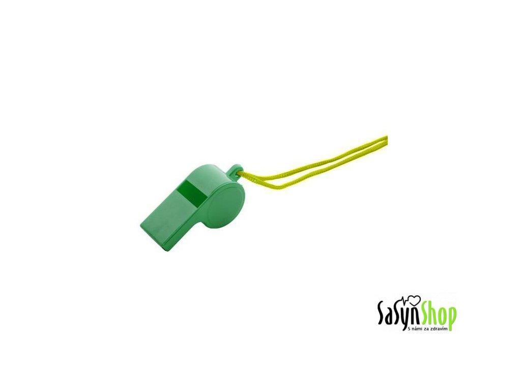 Píšťalka plast RICHMORAL se šňůrkou WS222