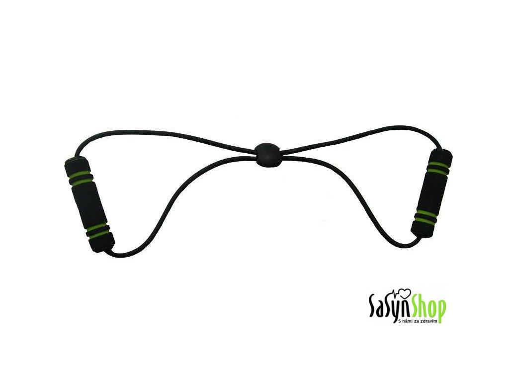 Posilovač expander osma SUPER gumový zeleno/černý 0,65 x 49 cm