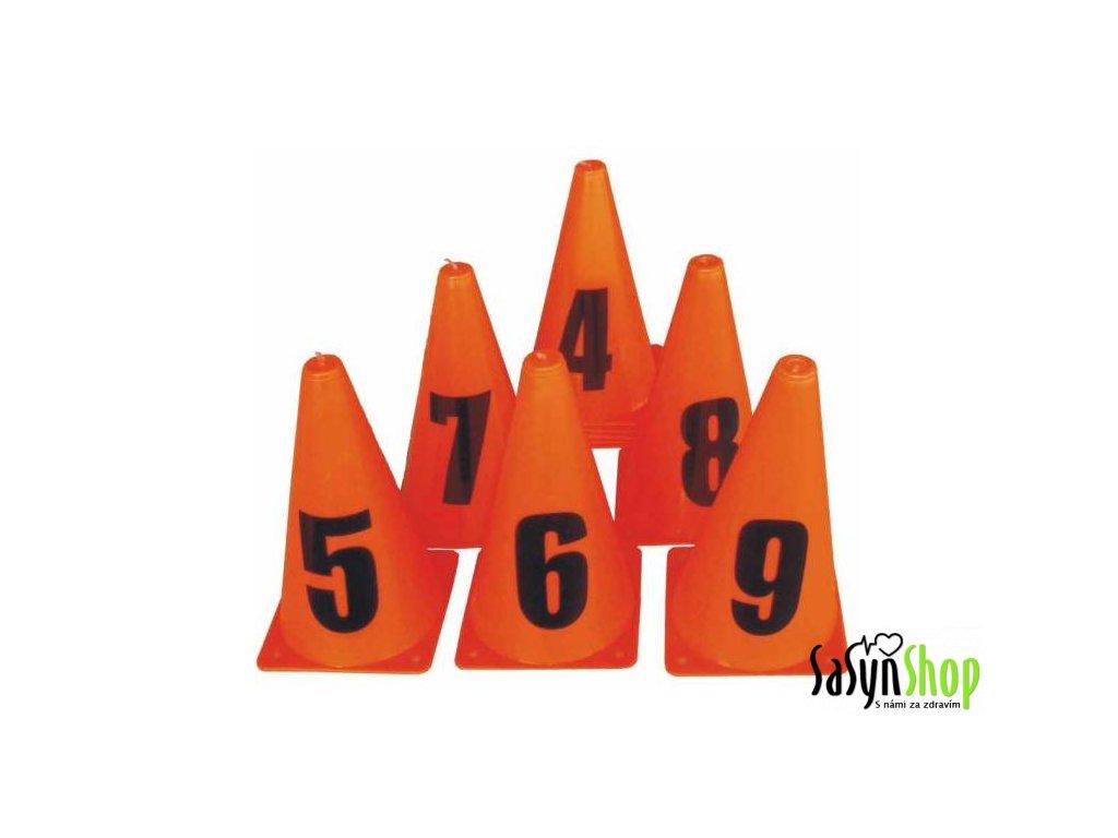 Kužele tréninkové s číslicemi 0-9