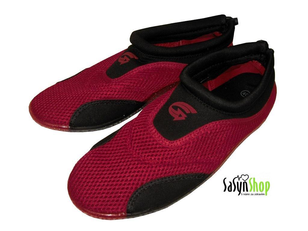 Plážová neoprenová obuv ALBA, červená