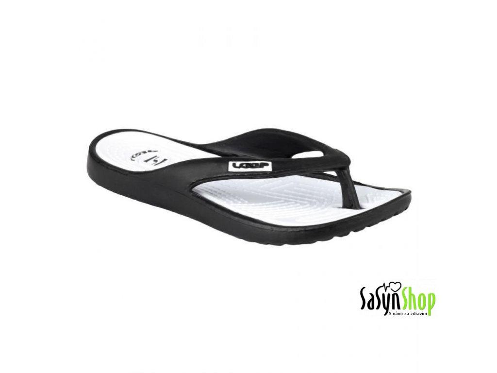 Plážová obuv MIKA, černá/bílá