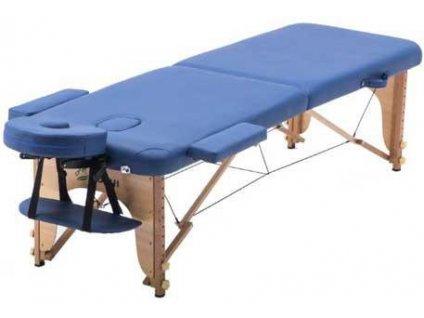 Masážní lůžko/lehátko SPARTAN skládací - dřevěné 186 x 70 cm