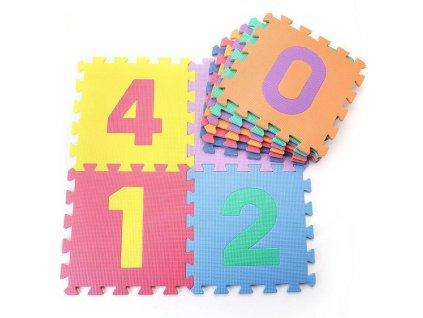 Dětská hrací podložka s čísly Sedco 30x30x1,2 cm - 10ks