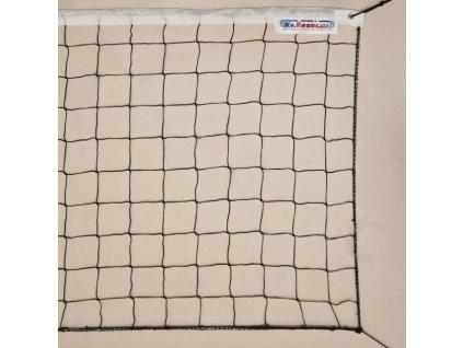 Volejbalová síť černá se šňůrou BASIC