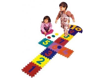 Panák skákací Flip Flop, pěnové puzzle