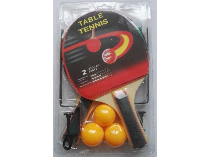 Set pálek na stolní tenis SET SEDCO + míčky + síťka