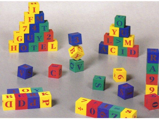 Kostky abeceda + čísla, EVA pěna, 4x4 cm, 30 ks