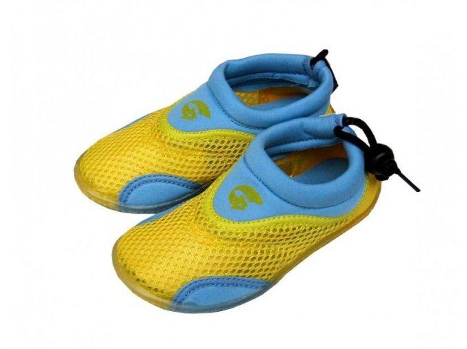 Dětské neoprenové boty do vody Alba, žlutomodré