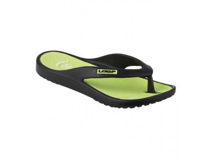 Plážová obuv MIKA, černá/zelená