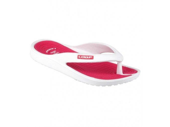 Plážová obuv MIKA, růžová/bílá