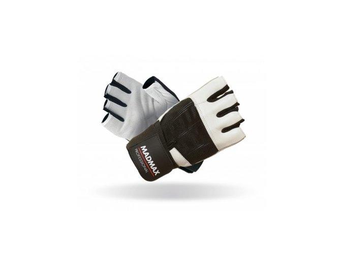 MadMax Rukavice PROFESSIONAL white/black
