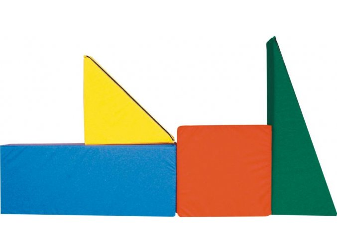 Kostky velké stavební molitan 32ks/10cm výška