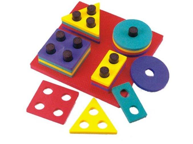 Navlékací geometrické tvary, 20 ks