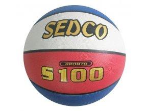 Míč basket syn.kůže TOP S100 5 červeno-bílo-modrý