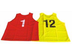 Sada rozlišovacích dresů s čísly 1-12, velikost S